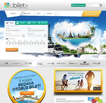 تصميم موقع شركة obiletx